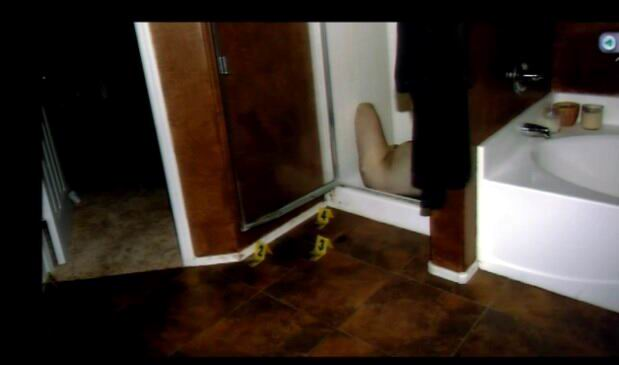 photo of Travis Alexander's body in the shower of his apartment.