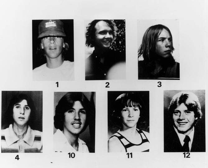 murdered young boys, victims of serial killer William Bonin