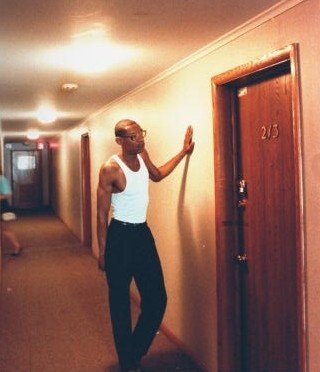 Vernell Bass Neighbor Of Serial Jeffrey Dahmer Standing In Hallway Next To Police Padlocked Door Apt 213 The Oxford Apartments After They