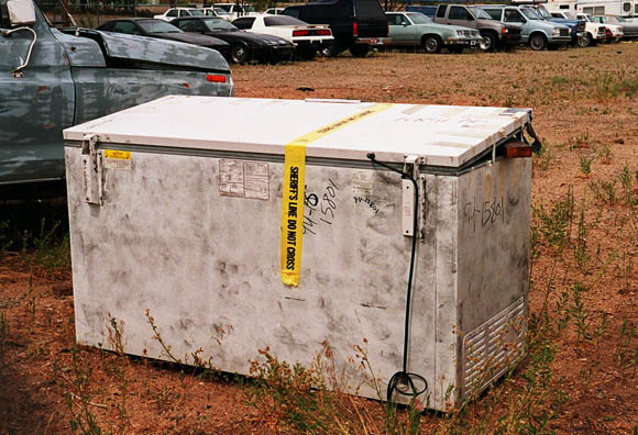 Denise Huber investigation: the freezer in the Yavapai County impound
