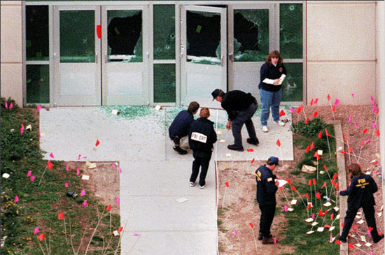 the killing spree at columbine high school Filestudents react at a triage area near columbine high school in littleton  colo, during a shooting rampage by two students on april 20,.