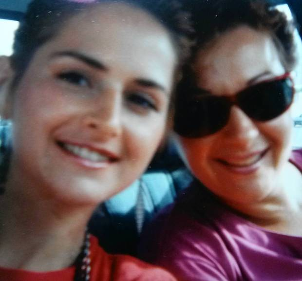 Denise Collins with her mother.