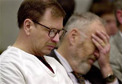 Gary ridgway sits in court during the sentencing portion of his trial