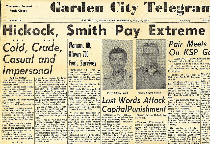 Clutter Murders In Holcomb Kansas http://murderpedia.org/male.S/s/smith-perry-photos-1.htm
