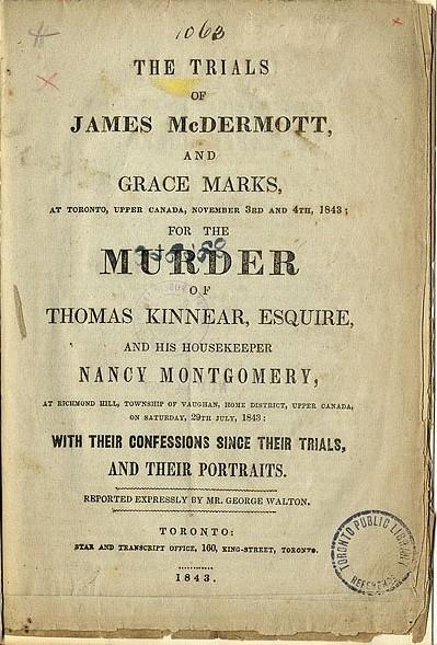 Grace Marks 1843