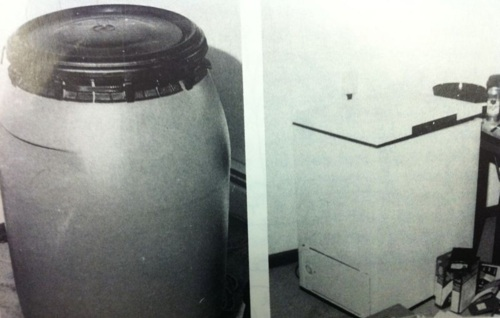 The 57 Gallon Blue Plastic Drum Taken From Jeffrey Dahmer S Apartment Found To Contain Three Human Torsos And Freezer In Which Heads A