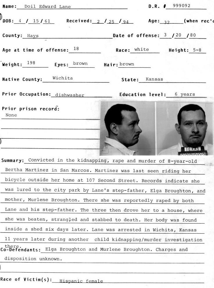 Doil Edward Lane | Murderpedia, the encyclopedia of murderers